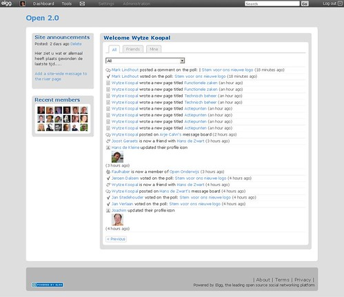 Open 2.0 Dashboard (via Tools Activity)