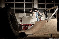New toy in the barn! (tjeerd.derkink) Tags: netherlands beer barn skateboarding farm session backside plow miniramp denekamp sekonic pocketwizard noseblunt l358 shiftysk8shop royalet tjeerdderkink thomasbouwman