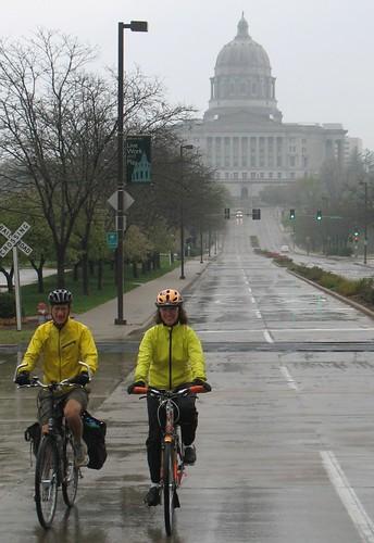 Biking near the Missouri Capitol