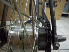Shimano Front Hubdynamo for Disc, now Rearhub fixed for fun & light! (rumbacaroma) Tags: wheels singlespeed fixie wismar surly rocco shimano dtswiss handbuild