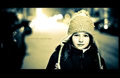 I remember this night (_Blueozone_) Tags: winter light girl night kid nikon lumire hiver daughter qubec soir rue enfant fille stret 50mmf28 d700 franoislecompte