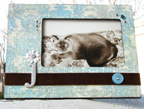 Altered Frame - Blue Damask