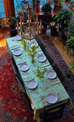 Dining Room Table from the Loft