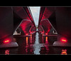 blood under the esplanade bridge (PNike (Prashanth Naik)) Tags: bridge red water colors reflections lights interestingness interesting nikon singapore asia southeastasia esplanade ripples esplanadebridge singaporecity d3000 pnike