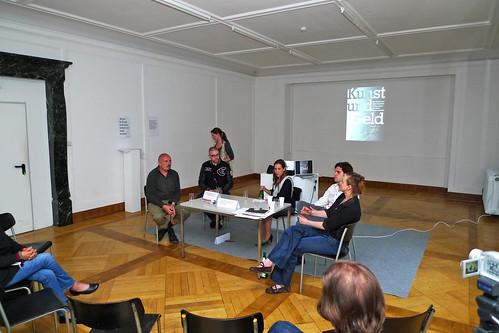 Kunst und Geld mit Eva Weingärtner bei Atelierfrankfurt. Juni 2011