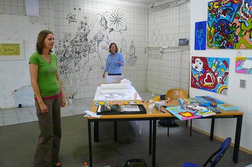 Sommer Atelier bei Familie Montez. Juli 2009