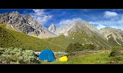 a change of plan (Daniel Murray (southnz)) Tags: park newzealand mountain lake snow ice grass rock stone forest trekking trek landscape temple climb scenery stream hiking walk bruce pass conservation peak tent hike steeple alpine nz scree southisland barrier tarn range tussock lunar col slope beech tramp steep gunsight ahuriri southnz