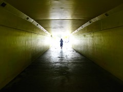 tunnel (cavale) Tags: sunlight 3 beach silhouette yellow concrete sam florida miami perspective tunnel litter portfolio cavalephotonet