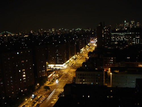 The view from the penthouse apartment in Manhattan.
