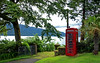Scenic Call (edowds) Tags: trees red scotland scenery gate argyll scenic july 2009 telephonebox phonebox inverchaolain lochstriven aplusphoto platinumheartaward glenstriven