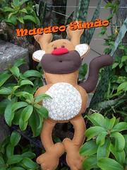 Macaco Simo (Little Felt - by Vivi Cordeiro) Tags: flores artesanato jardim macaco feltro bichos animais presente tecido florzinha simo macaquinho jardineira