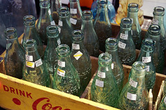 Photo1214 (wanderingemini) Tags: brooklyn bottles parkslope fleamarket cokebottles