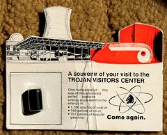 Trojan nuclear plant souvenir from the 1970s