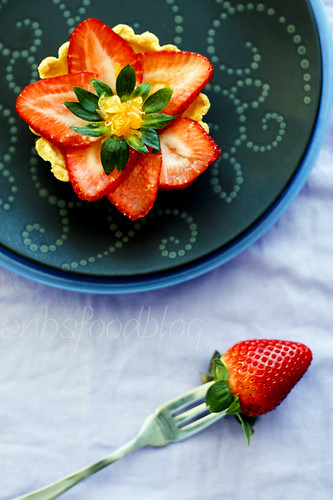 Winter strawberry cream cheese tartlet