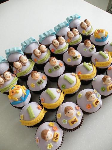 BBC 1st Birthday Cupcakes