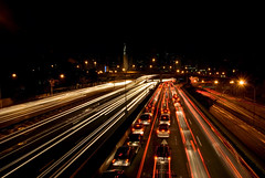 23 de maio (Hugo Chinaglia) Tags: city cidade brazil cars brasil night avenida nikon traffic sopaulo sp carros noite ibirapuera 23 avenue transito maio metropole congestionamento trafego d80