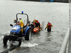 Anstruther inshore lifeboat launch