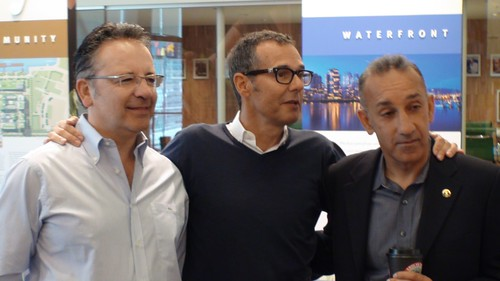 Bob Rennie, centre, stands with Peter (left) and Shahram Malek