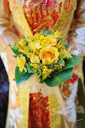 Wedding Tea Ceremony Detail: Bride