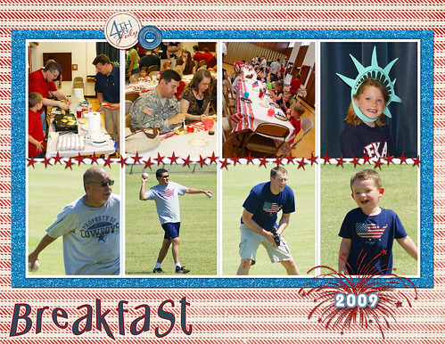4th of July Breakfast (Stripes)