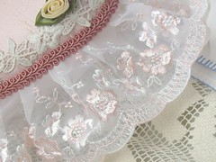 shabby heart-lace (Shabee Stitches) Tags: pink roses victorian silk pillow ringbearer romantic chic weddings accessory shabby ringpillow themewedding shabeestitches
