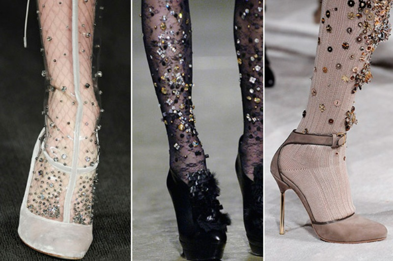 diy tutorial embellished sequined tights inspiration