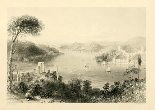 005- Castillos de Europa y Asia-Las bellezas del Bosforo 1838-W.H. Bartlett
