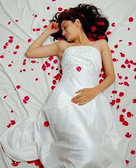 (Restless mind) Tags: lighting india petals model nikon pretty posed gown pune kothrud d40 krishlikesit tadka09wk37