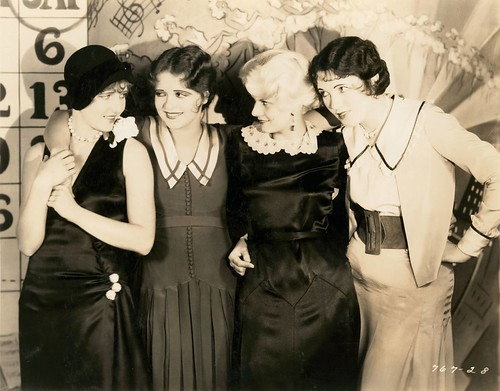 Jean Arthur, Clara Bow Jean Harlow and unknown actress by Eugene Robert Richee