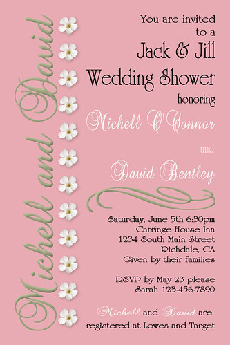 #C67,custom,personalized,wedding,bridal,baby,shower,anniversary,birthday,invitations,invite,unique,pink,blue,royal,green,brown,chocolate,floral,flower,white,scroll,damask,elegant,baby feet,feet,polka,dot, polka dot,circles,jack and Jill shower,coed shower por www.collagebycollins.com 3.