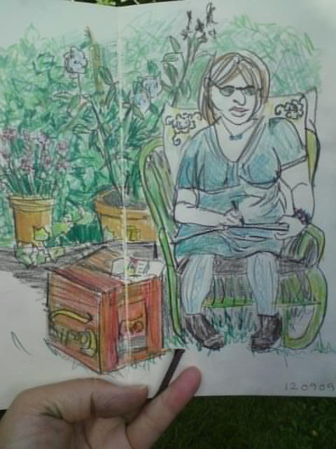 Anettes tegning af mig