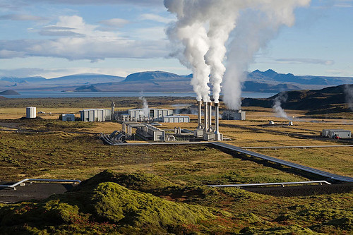 The deep drilling involved in geothermal power production can induce earthquakes.