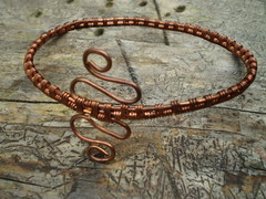 Snake Copper Bangle