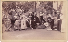 Staged Execution (LJMcK) Tags: vintage outdoors actors play michigan group victorian grandrapids wonderly