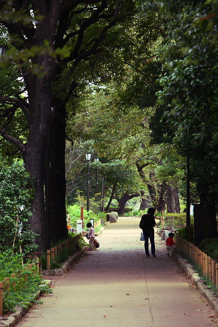 お堀端の緑道