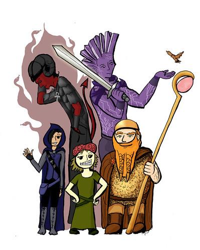 D&D Party Drawing: Color