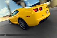 2010 Camaro SS Rig06 (ojsantiago21) Tags: motion nikon downtown driving photographer cincinnati ss automotive camaro rig 2010 d300 blackstripes automotivephotographer rigshot ojsantiago rallyyellow