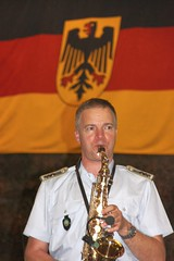 Sax at German Beer Night (jayinvienna) Tags: music dulles flag band oktoberfest saxaphone german musik dullesairport bundeswehr luftwaffe concertband germanarmedforces bundesmarine germanbeernight bundeswehrkommando concertbandofthegermanarmedforces germanarmedforcescommand