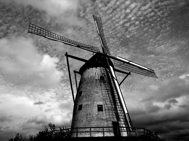 Windmill, no hills.