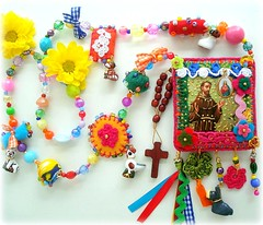 Viva So Francisco! (Lidia Luz) Tags: necklace beads handmade jewelry felt bijoux bijuteria feltro colar sofrancisco bijouteria lidialuz