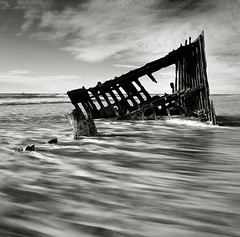 The Wreck of the Peter Iredale (Robert_Brown [bracketed]) Tags: ocean park brown robert beach water canon long exposure state pacific fort mark stevens 9 peter shipwreck filter ii 5d hmc density hoya stops neutral 1740l 77mm nd400 iredale 5photosaday