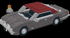 Jaguar XJ6 Coupe Series II (lego911) Tags: auto car model lego render jaguar coupe cad lugnuts moc xj6 ldd seriesii