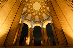 Masterpiece (kaoni701) Tags: sf sanfrancisco california city building architecture night marina bay dusk fine columns arts wideangle lagoon palace tokina goldengate dome bayarea palaceoffinearts presidio exploritorium corithian 1116 d300s