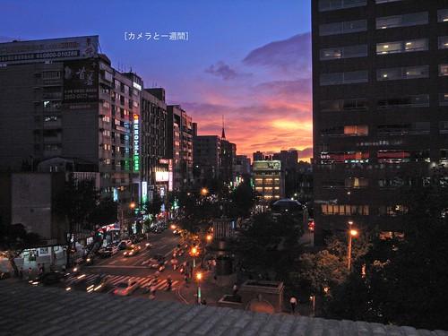 20080922公司窗邊的美麗夕陽