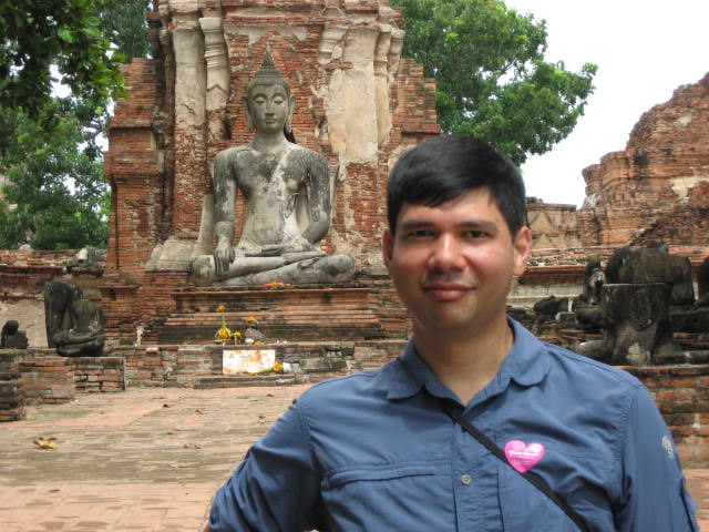 Ryan and Buddha at Ayutthaya Historical Park