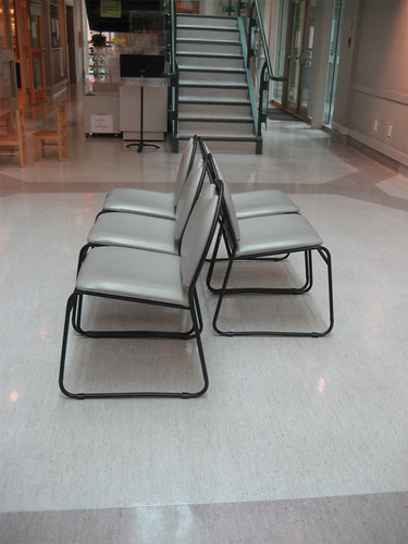 Chairs in the atrium