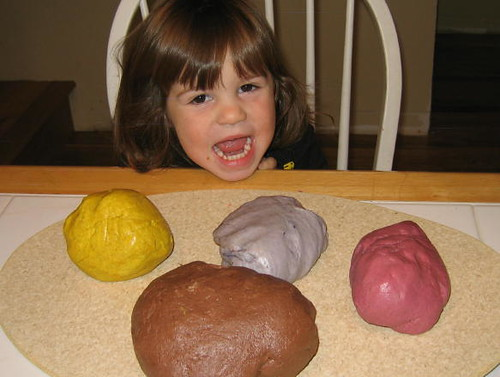 Our first batch of all natural play dough
