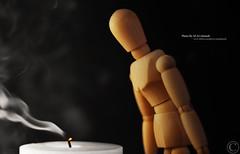 انا بدونك تنطفي شموعي (MJ ♛) Tags: wood white man black canon person eos wooden smoke m f18 majid 2009 ef candel alahmadi ef50mm 40d