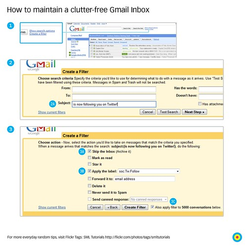 How to maintain a clutter-free Gmail Inbox / 2009-11-01 / SML Tutorials (by See-ming Lee 李思明 SML)