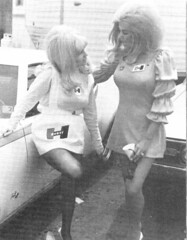 June Cochran and Linda Vaughn discuss long days in high heels (torinodave72) Tags: girl june golden nikki phillips f1 linda nascar firebird marsha miss vaughn pure bennett cochran shifter hurst nhra usac ahra